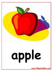 English Worksheet: The fruits flash-cards