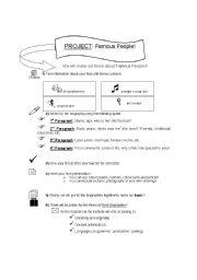 English Worksheets: Biographies Project