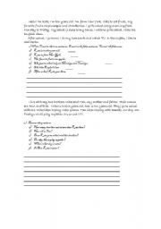 English Worksheets: text for beginers kids