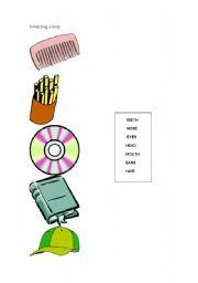 English Worksheets: A matching activity