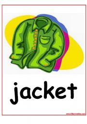 English Worksheet: The Clothes flashcards