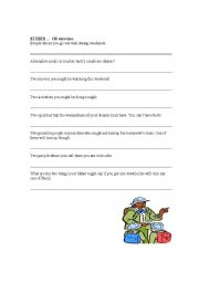 English Worksheets: EITHER..OR