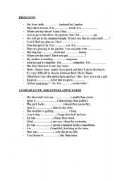 Pronouns and comparatives