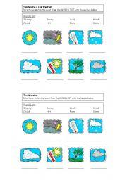 the weather word matching esl worksheet by taylorv5. Black Bedroom Furniture Sets. Home Design Ideas