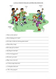 English Worksheets: reading comprehension-picture