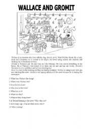 reading comprehension - Wallace and Gromit