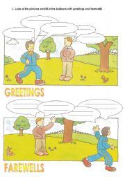 Greetings and farewells esl worksheet by juju english worksheet greetings and farewells m4hsunfo