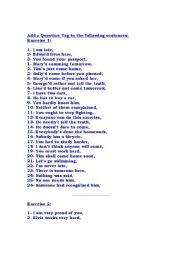 English Worksheets: qtag
