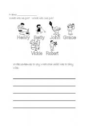English Worksheets: What  has he got