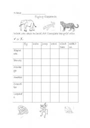 English Worksheets: Flying elephants