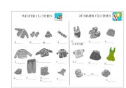 Winter and summer clothes