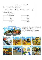 English Worksheets: Ways of transport 2