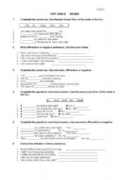 English Worksheets: Past simple
