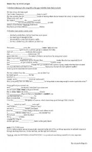 English Worksheets: Skater boy song