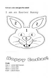 English Worksheet: I am a Easter bunny
