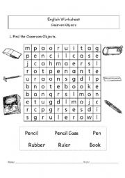 Printables Classroom Worksheets english worksheets the classroom page 51 objects
