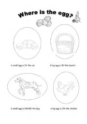 English Worksheet: where is the easter egg?