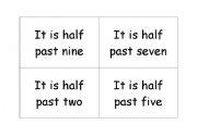 English Worksheet: TELL TIME MEMORY GAME/ BINGO