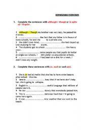 English Worksheets: REPHRASING_PRACTICE
