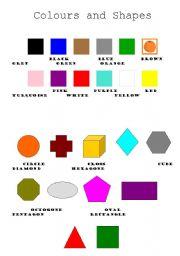 esl kids worksheets colours and shapes. Black Bedroom Furniture Sets. Home Design Ideas