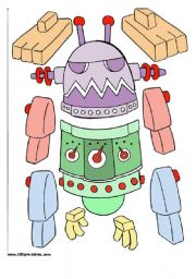 English Worksheet: The Robots