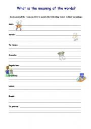 English Worksheets: Match the meaning to the descriptions business english