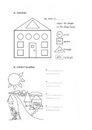 English Worksheet: shapes