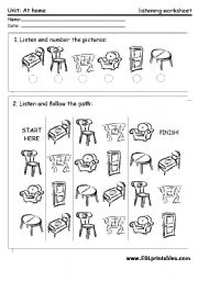 Printables Listening Worksheets the furniture listening worksheet