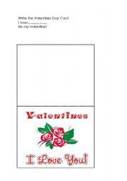 English Worksheet: Happy Valentines