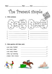 English Worksheet: The present simple tense