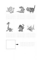 English Worksheets: describe animals