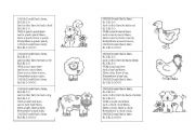 English Worksheet: old mc donald