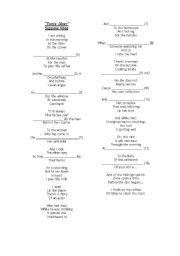 English Worksheet: Song - Present continuous