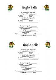 English Worksheet: Jingle Bells fill in the gaps