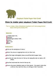 English worksheet: The elephant