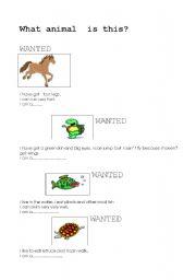 English Worksheets: wanted