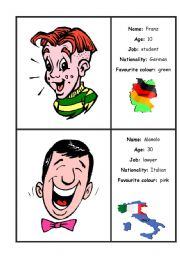 English Worksheets: PERSONAL IDENTIFICATION
