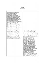 English Worksheet: Pig Poem
