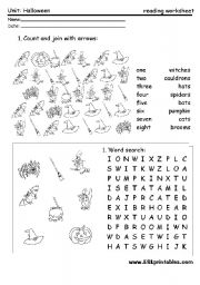 English Worksheets: Halloween worksheet
