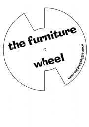English Worksheet: The furniture wheel