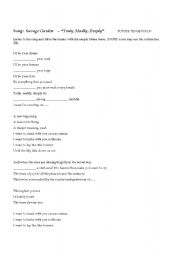 English Worksheet: SONG: TRULY MADLY DEEPLY by Savage Garden