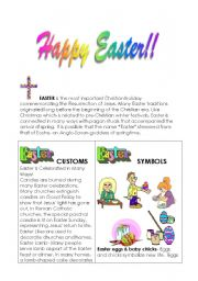 English Worksheets: Easter customs and symbols