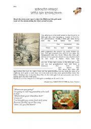 English Worksheet: Little Red Riding Hood (Reported Speech)