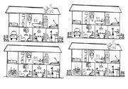 English Worksheet: a game - describing a house