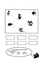 English Worksheets: silouettes