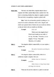 English Worksheets: SUbject verb agreement