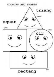 English Worksheet Basic Shapes