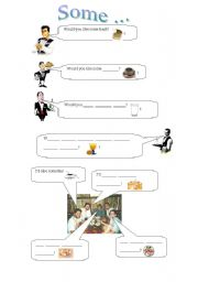 English Worksheets: Exercise Sheet for practising �some� in questions and sentences