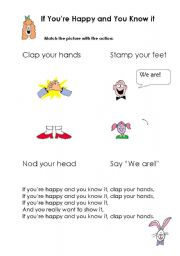 English Worksheets: If You�re Happy and You Know It!