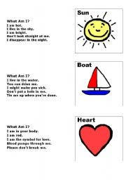 English Worksheets: What am I?